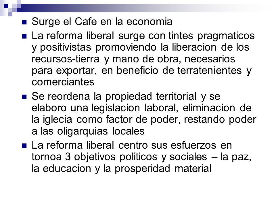 Surge el Cafe en la economia