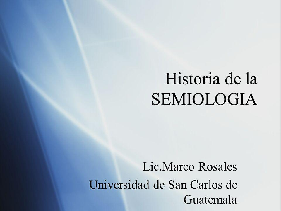 Historia de la SEMIOLOGIA