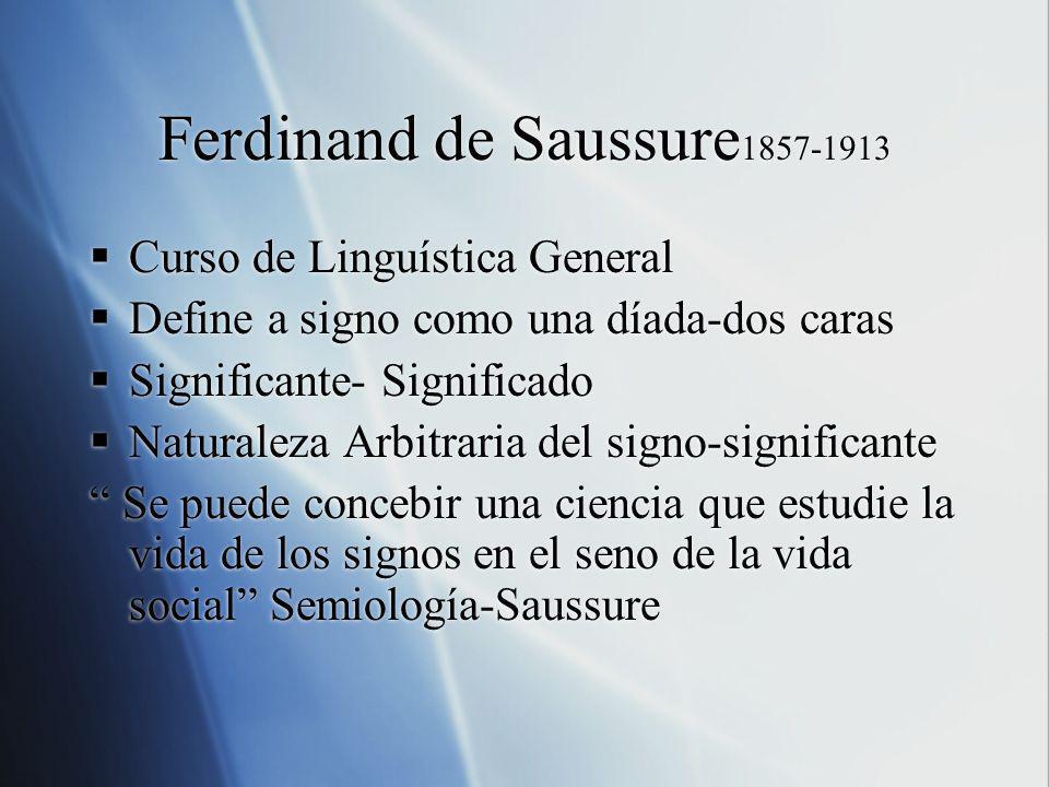 Ferdinand de Saussure1857-1913