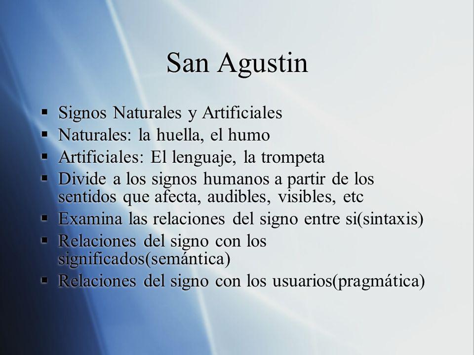San Agustin Signos Naturales y Artificiales