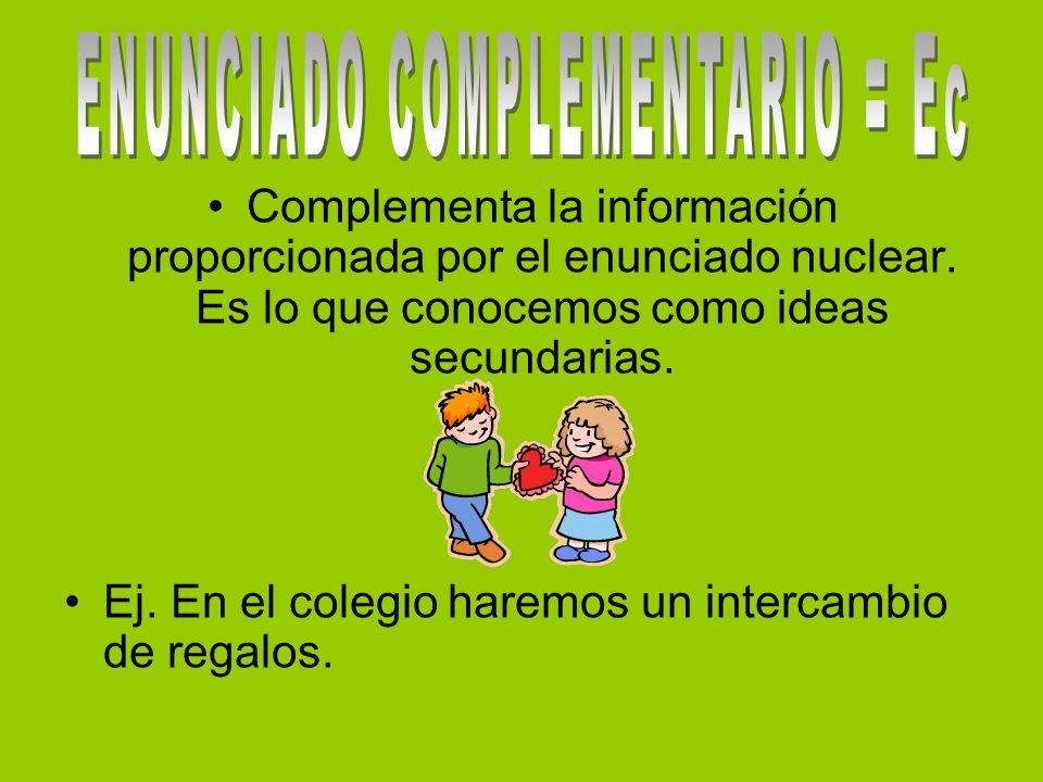 ENUNCIADO COMPLEMENTARIO = Ec