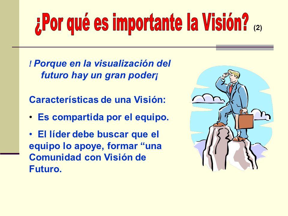! Porque en la visualización del futuro hay un gran poder¡