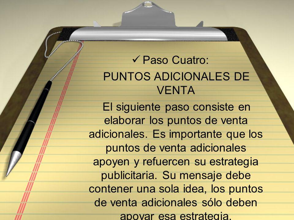 PUNTOS ADICIONALES DE VENTA