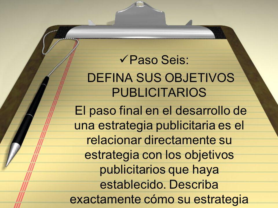 DEFINA SUS OBJETIVOS PUBLICITARIOS