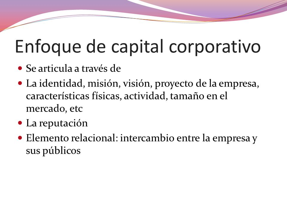 Enfoque de capital corporativo