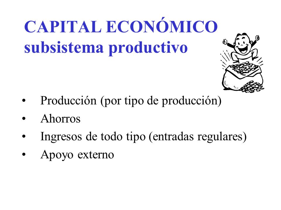 CAPITAL ECONÓMICO subsistema productivo