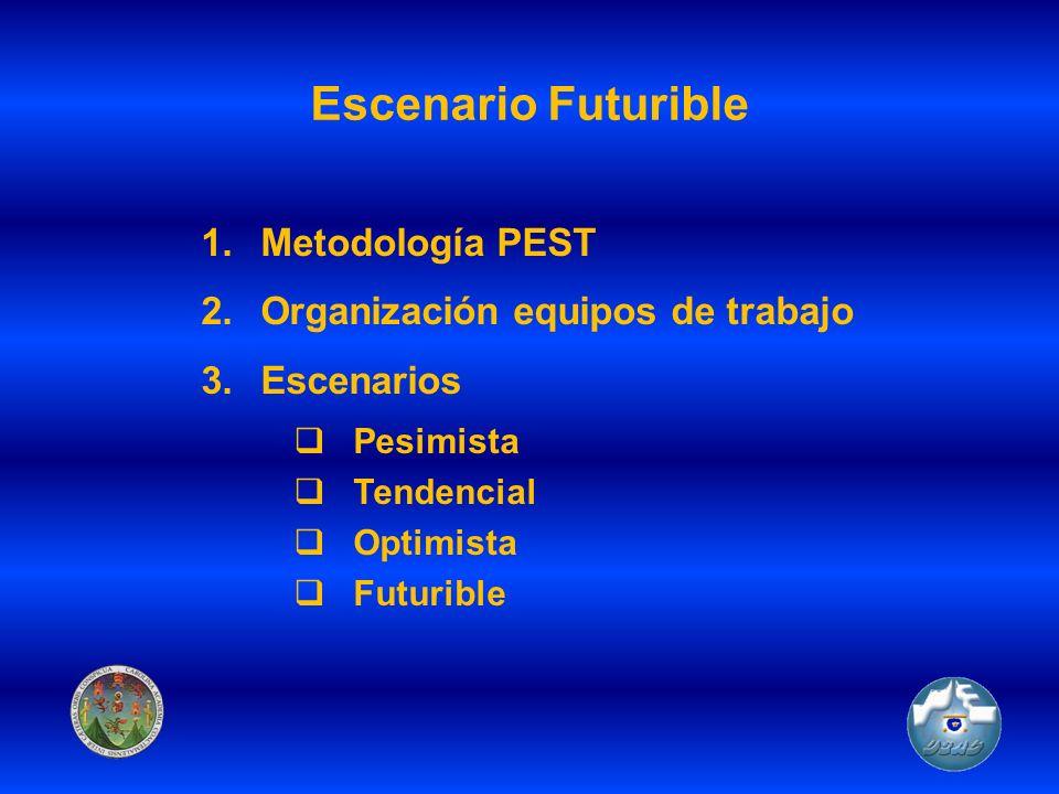 Escenario Futurible Metodología PEST Organización equipos de trabajo