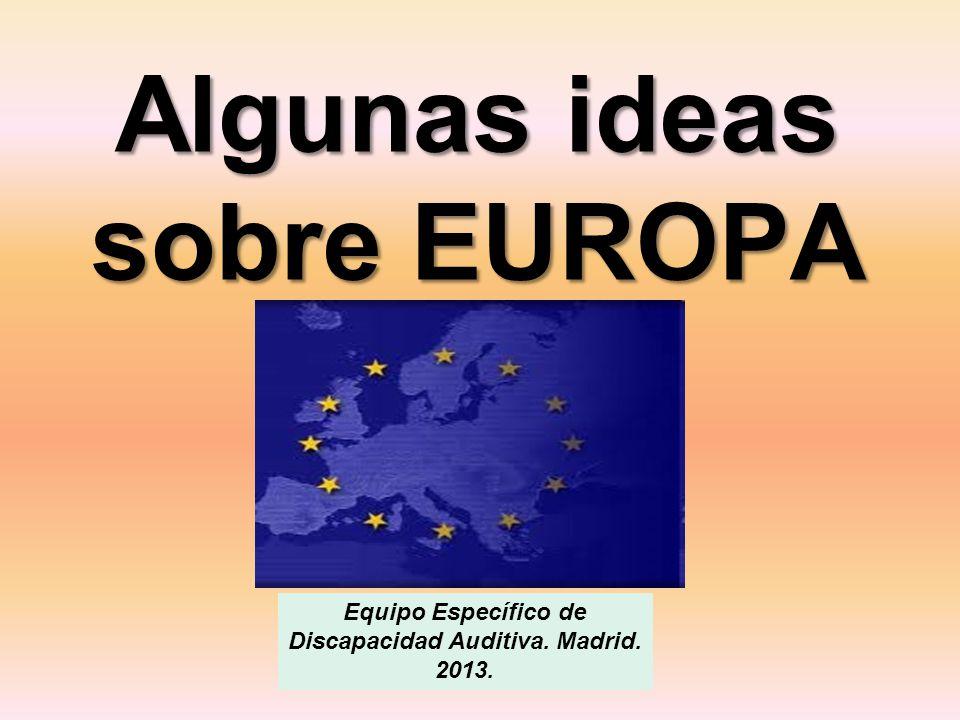 Algunas ideas sobre EUROPA
