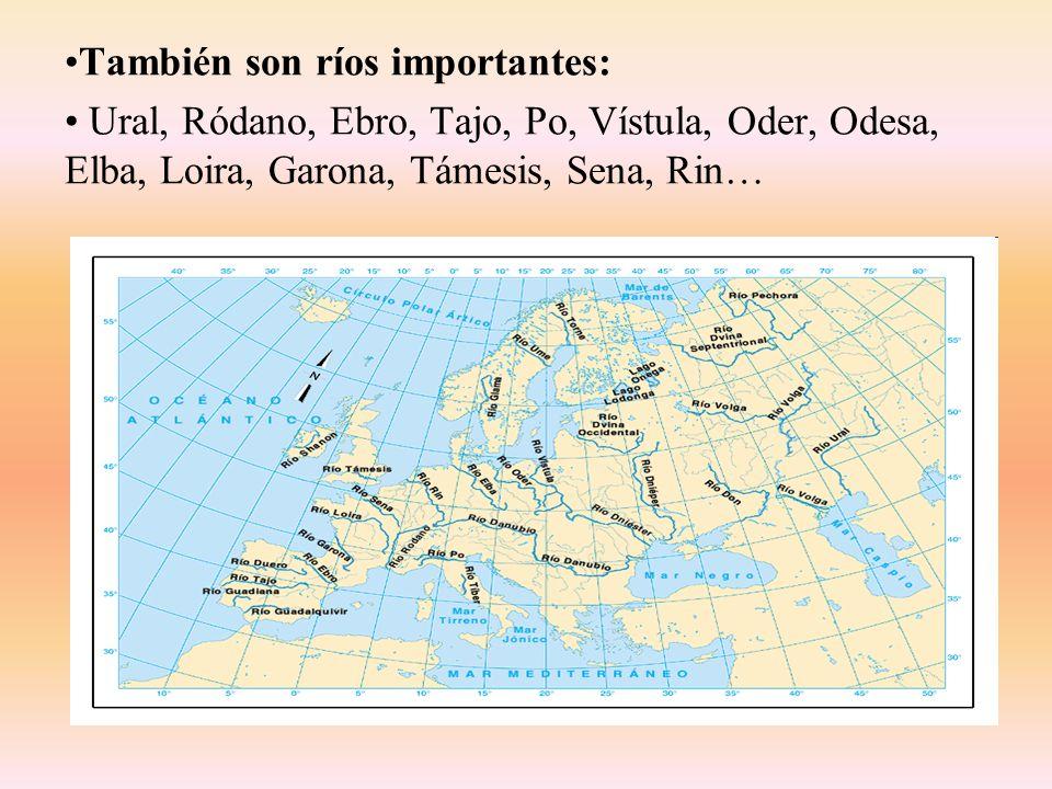 También son ríos importantes: