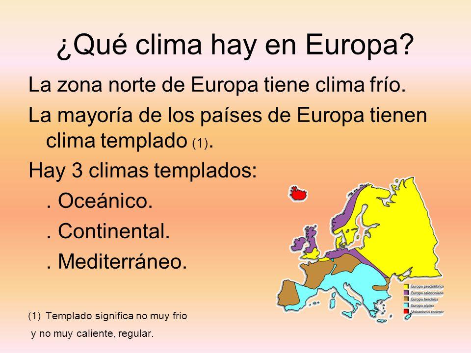 ¿Qué clima hay en Europa