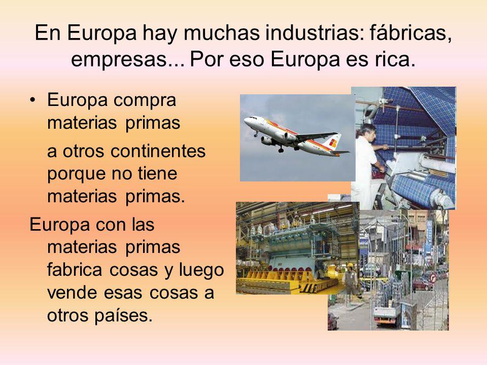 En Europa hay muchas industrias: fábricas, empresas