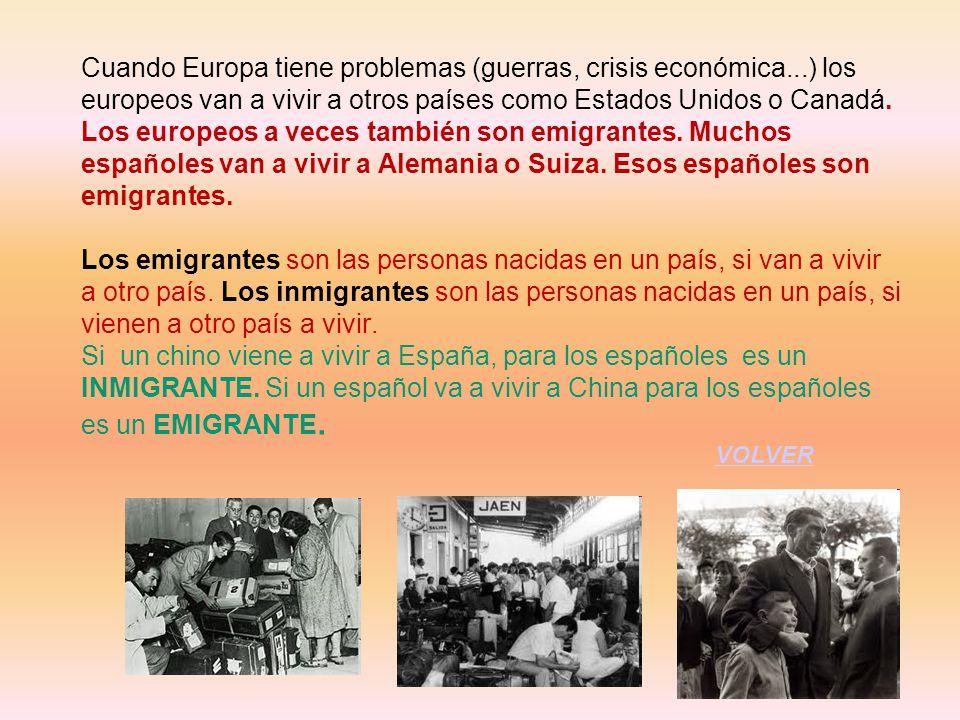 Cuando Europa tiene problemas (guerras, crisis económica