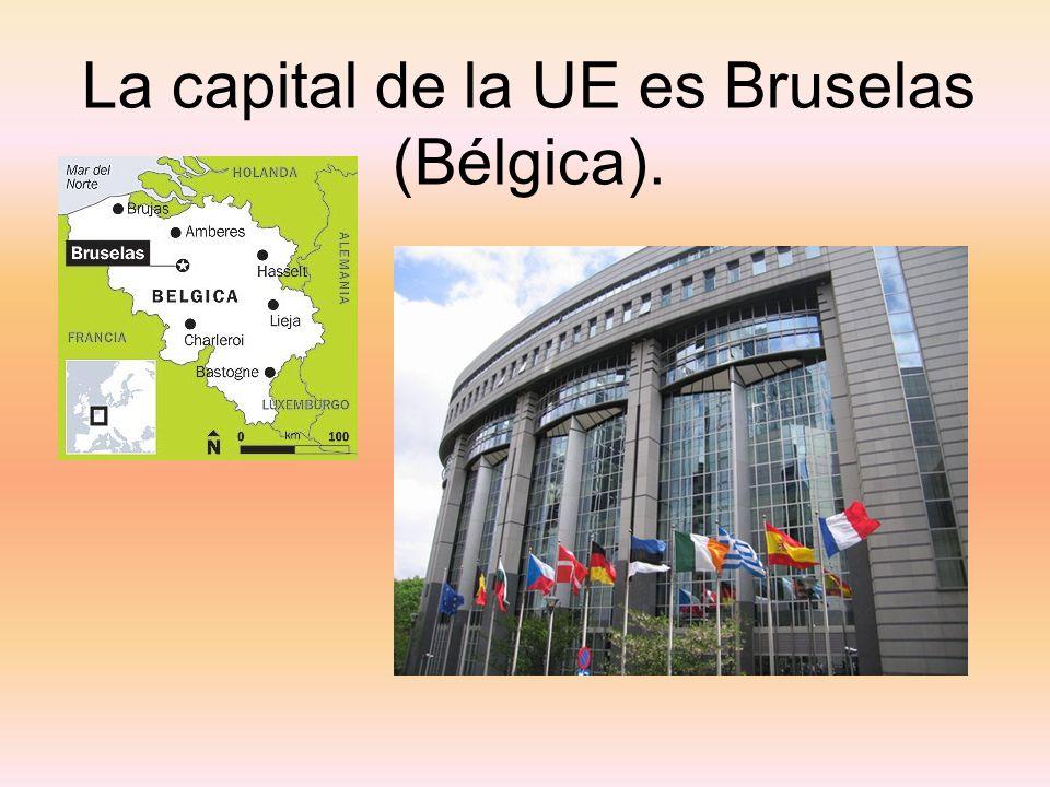 La capital de la UE es Bruselas (Bélgica).