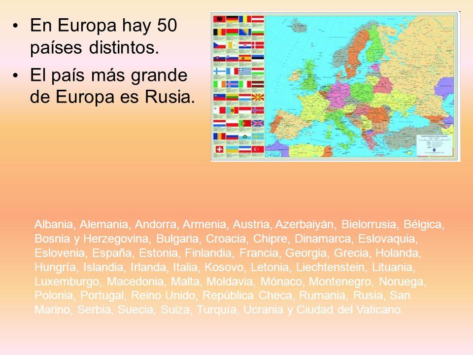 En Europa hay 50 países distintos.