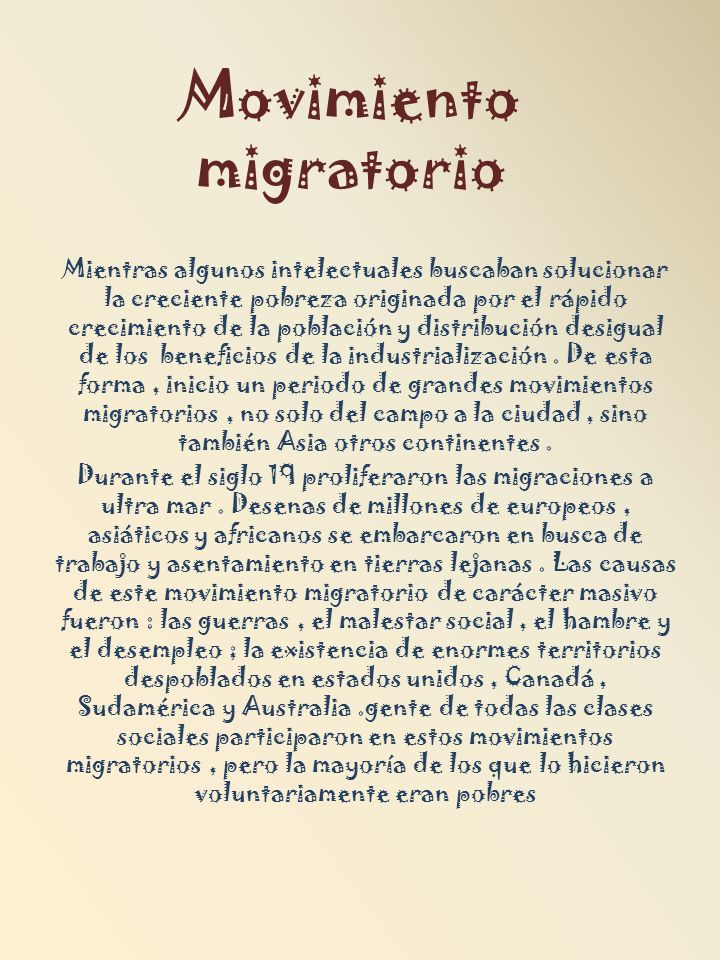 Movimiento migratorio