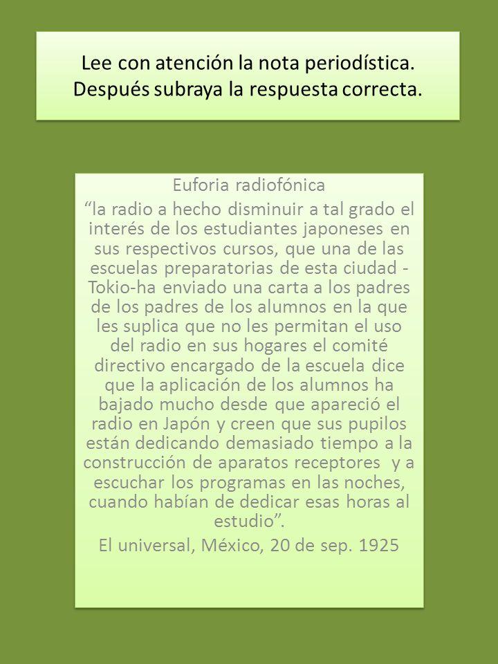 El universal, México, 20 de sep. 1925