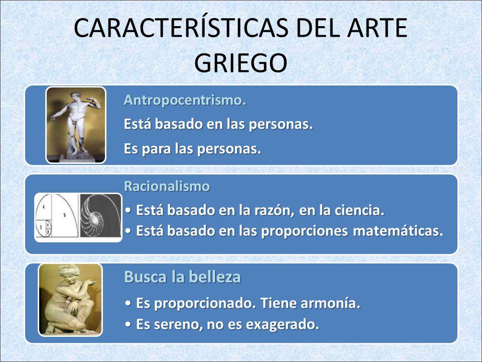 CARACTERÍSTICAS DEL ARTE GRIEGO