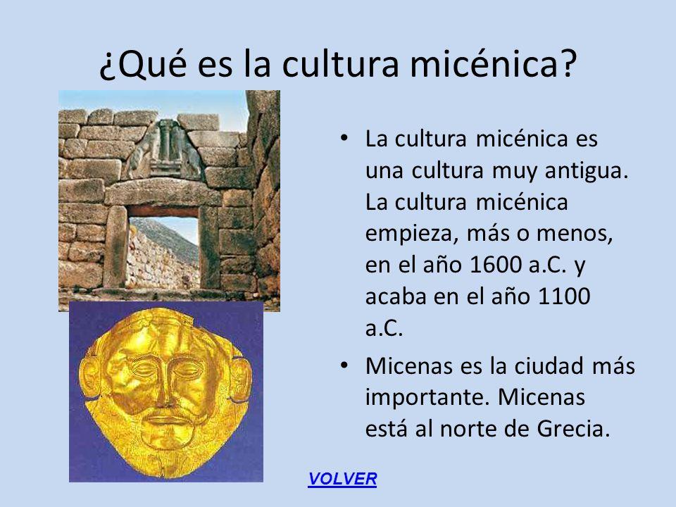 ¿Qué es la cultura micénica