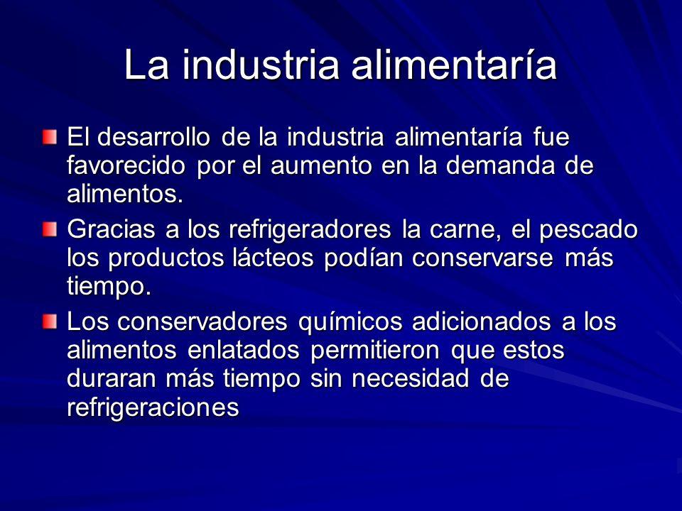 La industria alimentaría