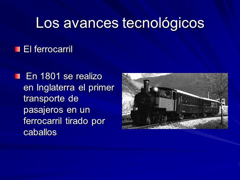 Los avances tecnológicos