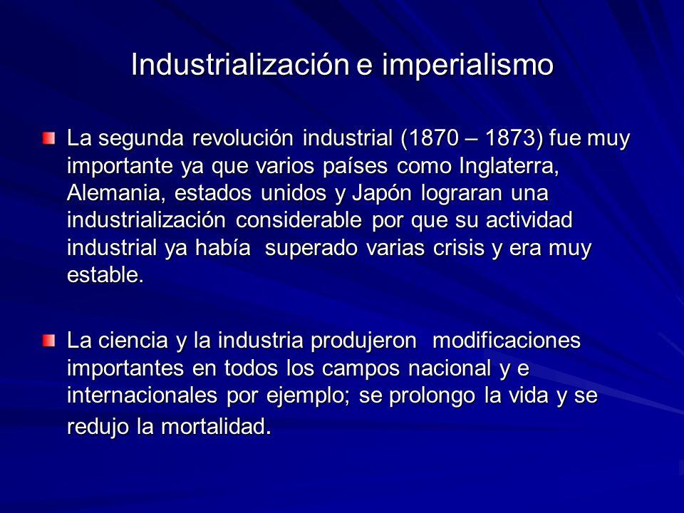 Industrialización e imperialismo