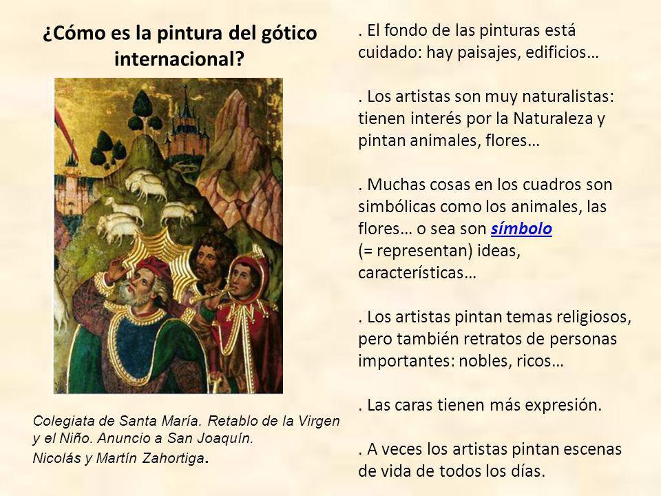 ¿Cómo es la pintura del gótico internacional