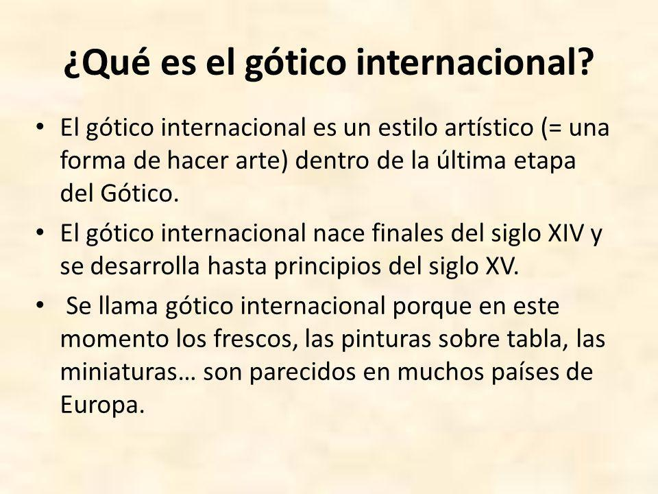 ¿Qué es el gótico internacional