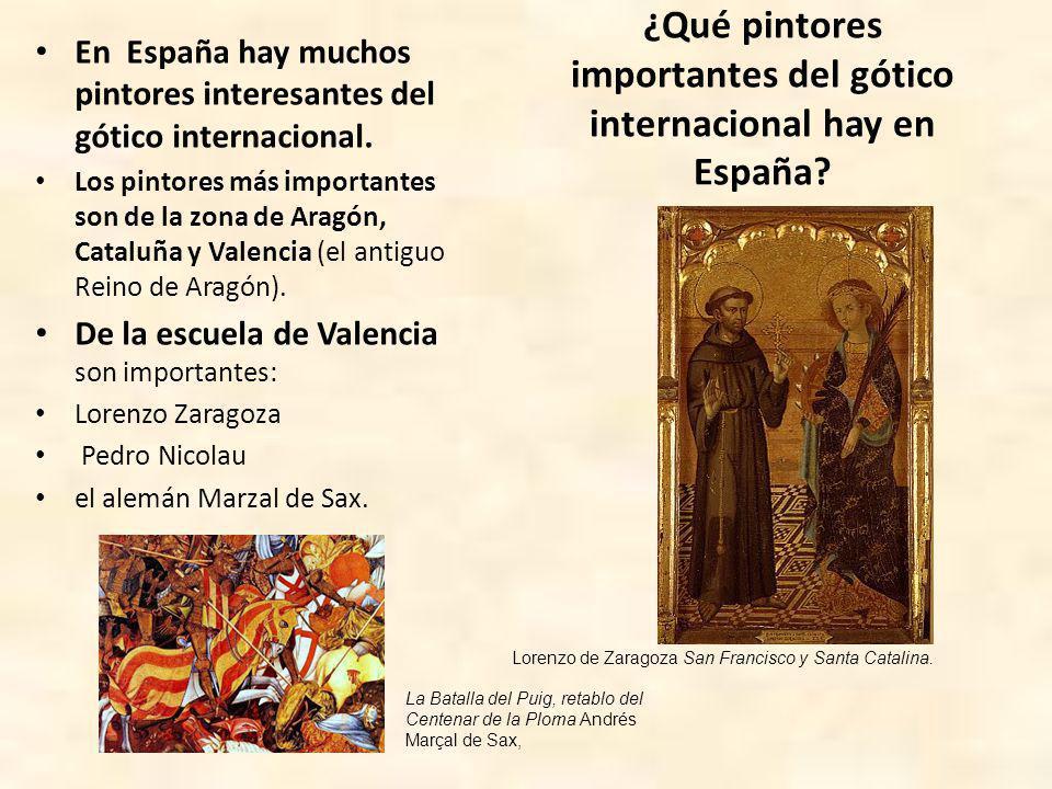 ¿Qué pintores importantes del gótico internacional hay en España