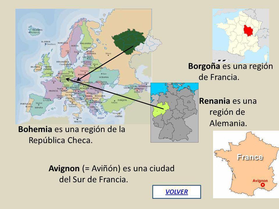 Borgoña es una región de Francia.
