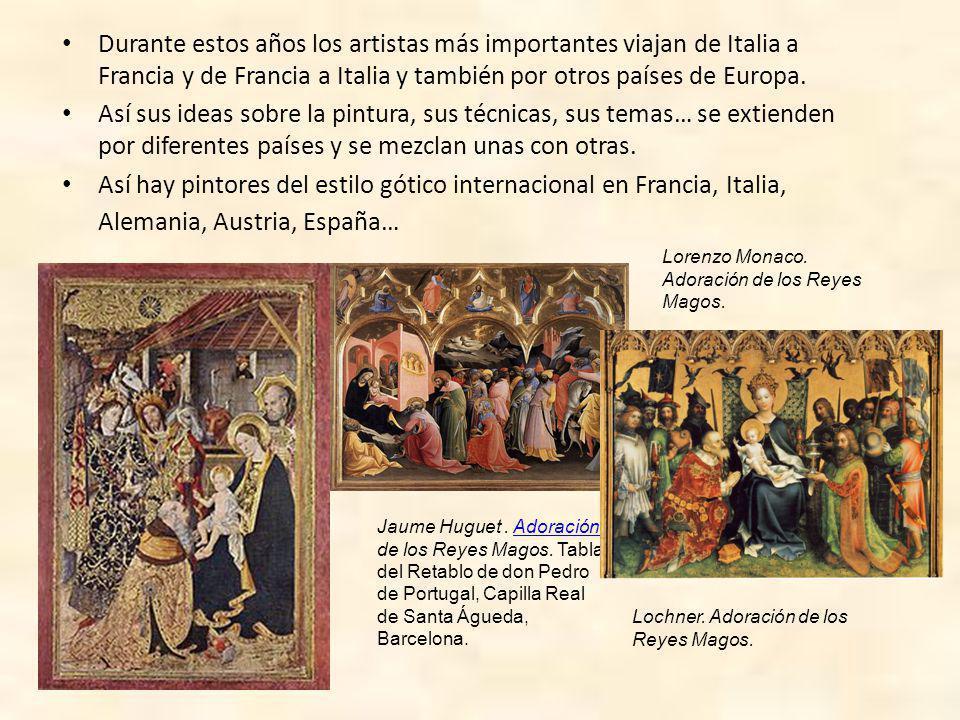 Durante estos años los artistas más importantes viajan de Italia a Francia y de Francia a Italia y también por otros países de Europa.
