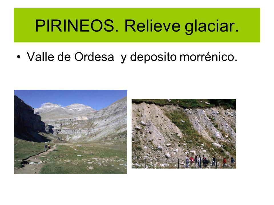 PIRINEOS. Relieve glaciar.