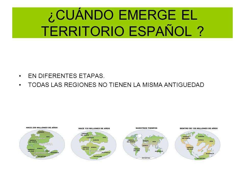 ¿CUÁNDO EMERGE EL TERRITORIO ESPAÑOL