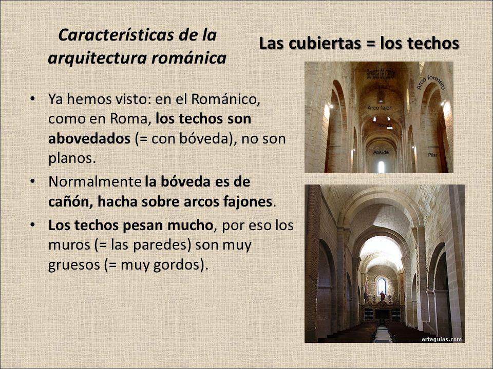 Características de la arquitectura románica