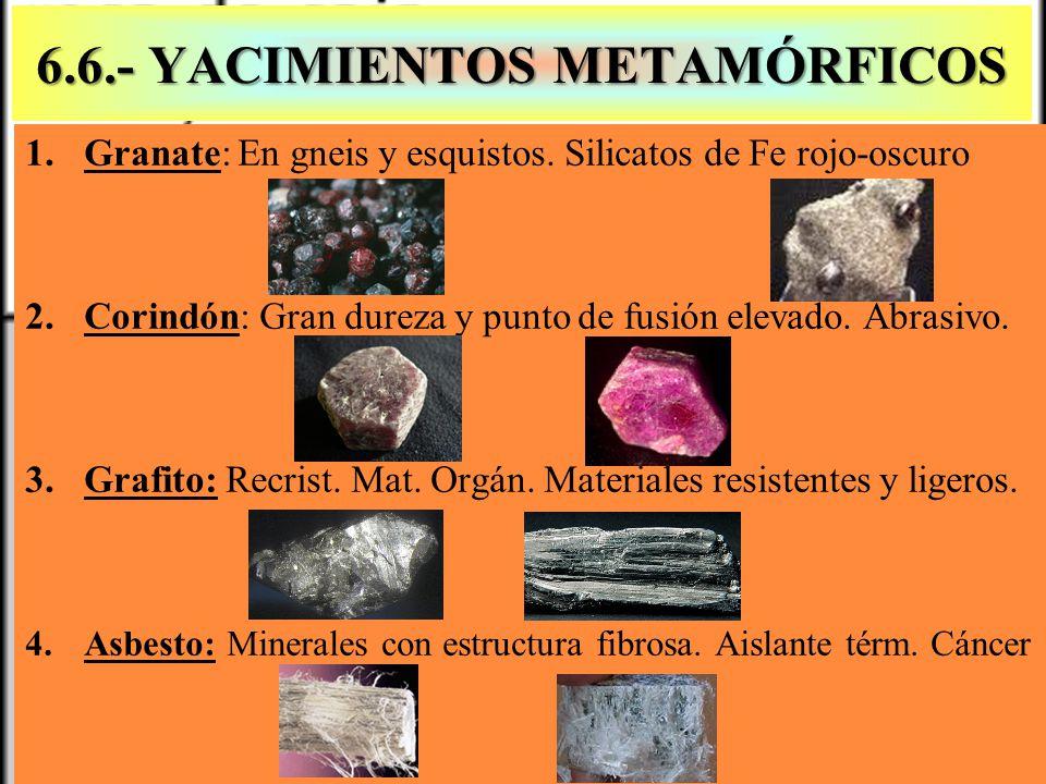 6.6.- YACIMIENTOS METAMÓRFICOS