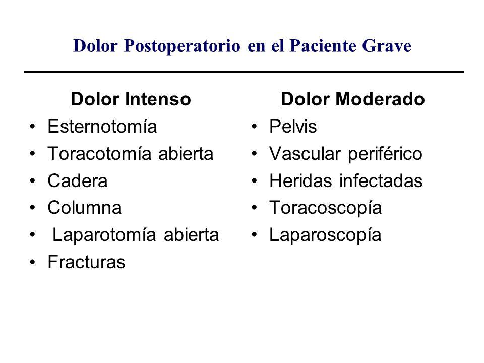 Dolor Postoperatorio en el Paciente Grave