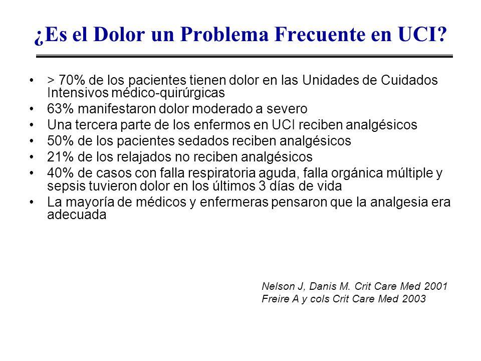 ¿Es el Dolor un Problema Frecuente en UCI