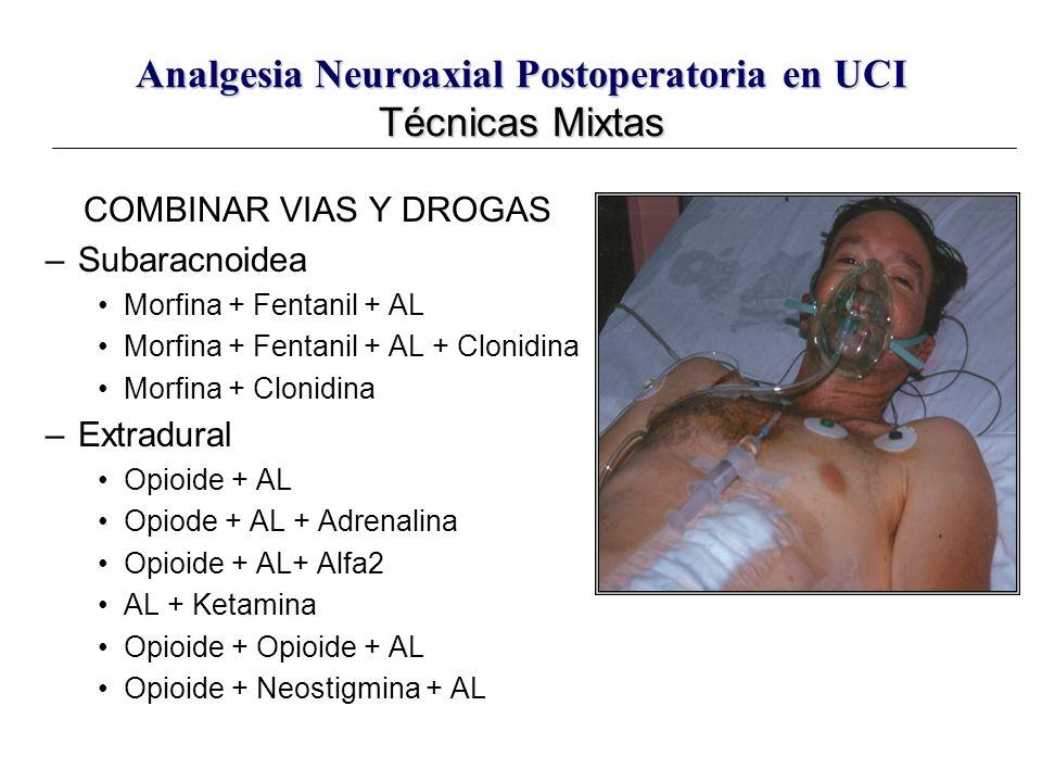 Analgesia Neuroaxial Postoperatoria en UCI Técnicas Mixtas