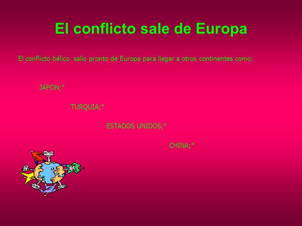 El conflicto sale de Europa