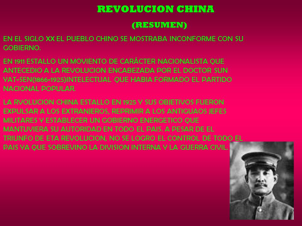 REVOLUCION CHINA (RESUMEN)