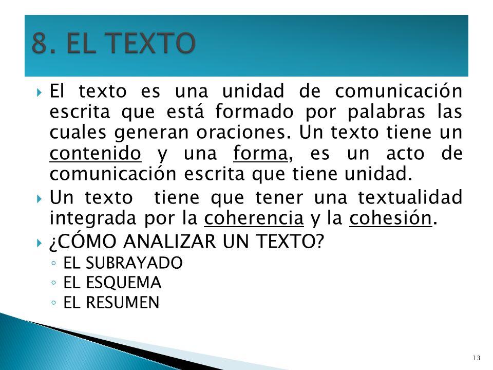8. EL TEXTO