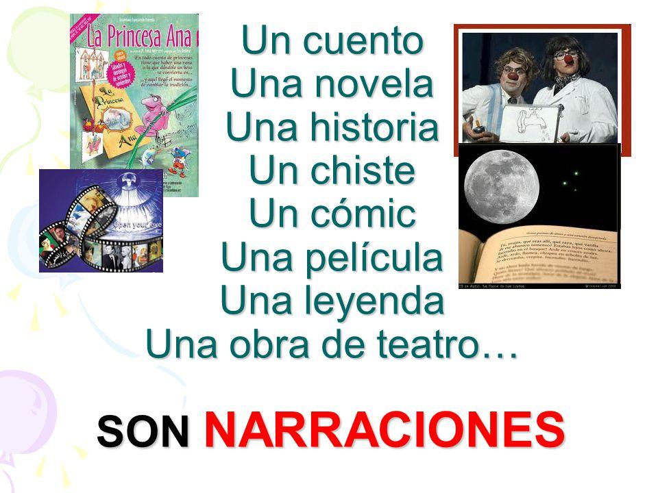Un cuento Una novela Una historia Un chiste Un cómic Una película Una leyenda Una obra de teatro…