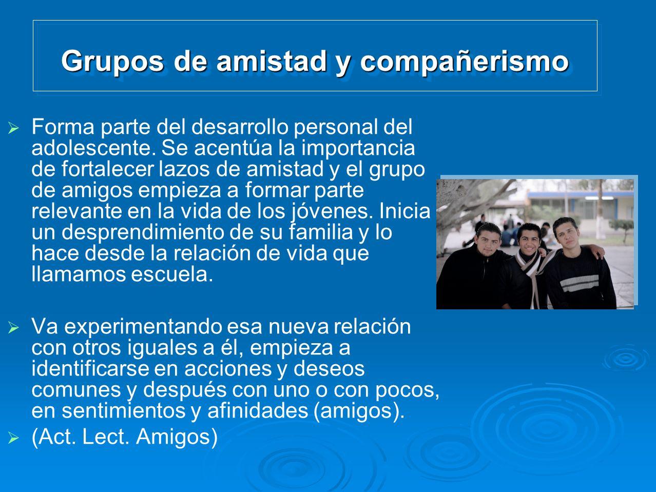 Grupos de amistad y compañerismo