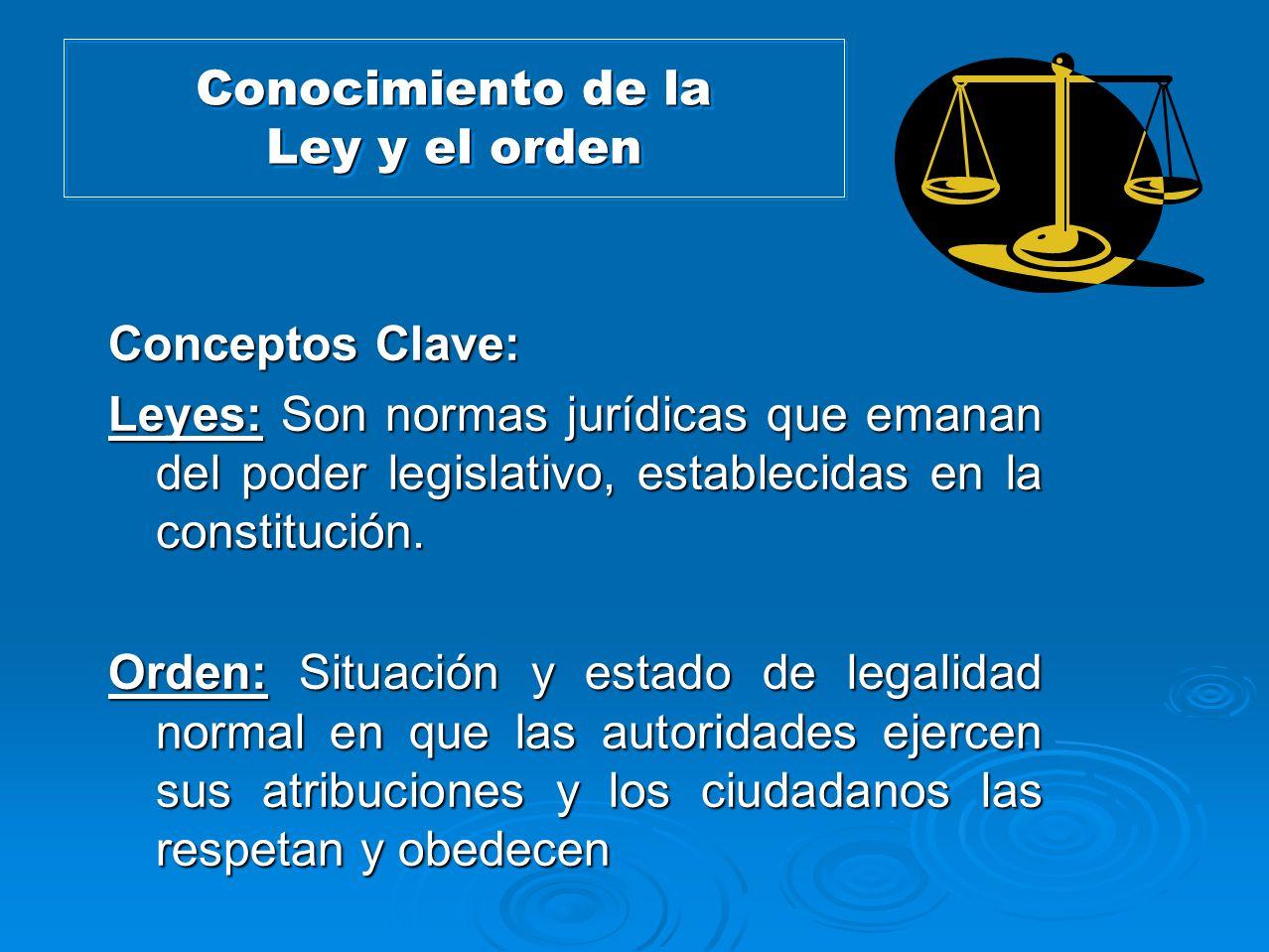 Conocimiento de la Ley y el orden