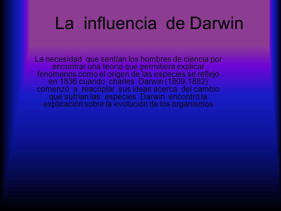 La influencia de Darwin