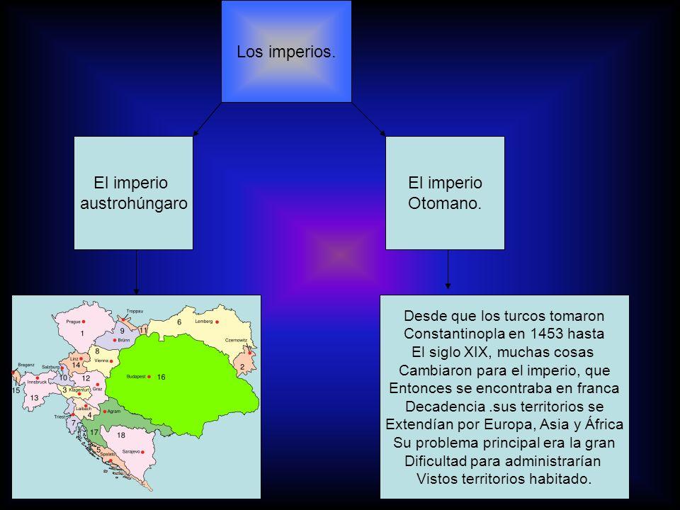 Los imperios. El imperio austrohúngaro El imperio Otomano.
