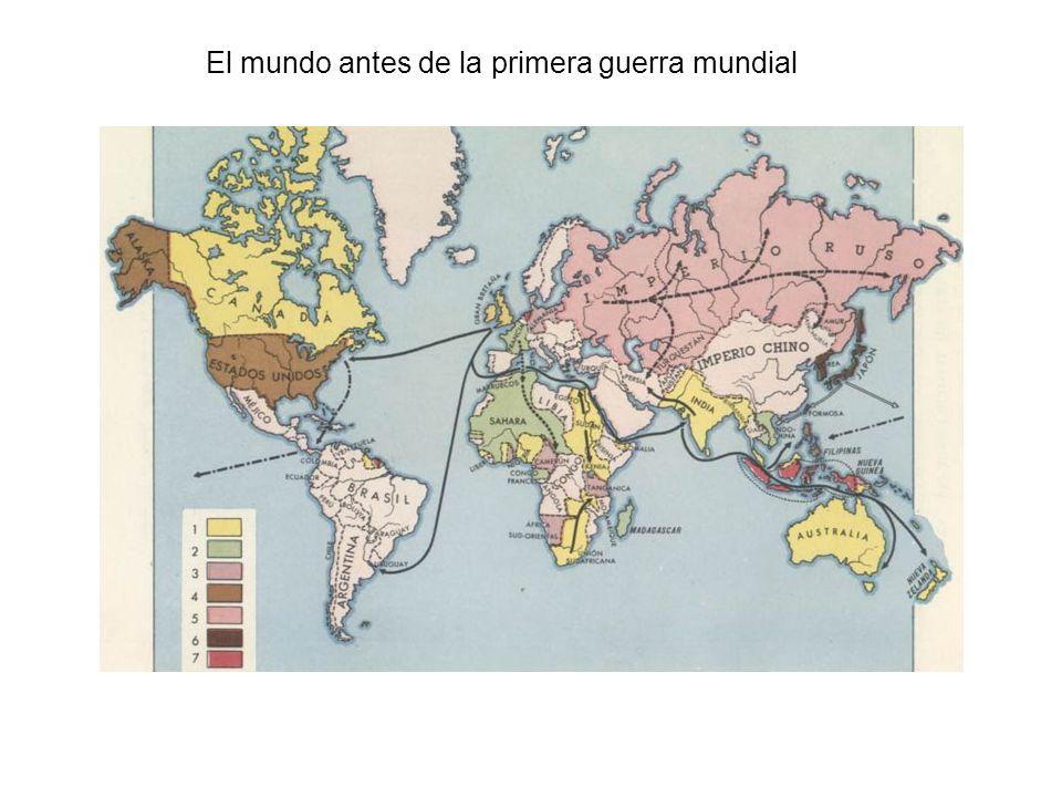 El mundo antes de la primera guerra mundial