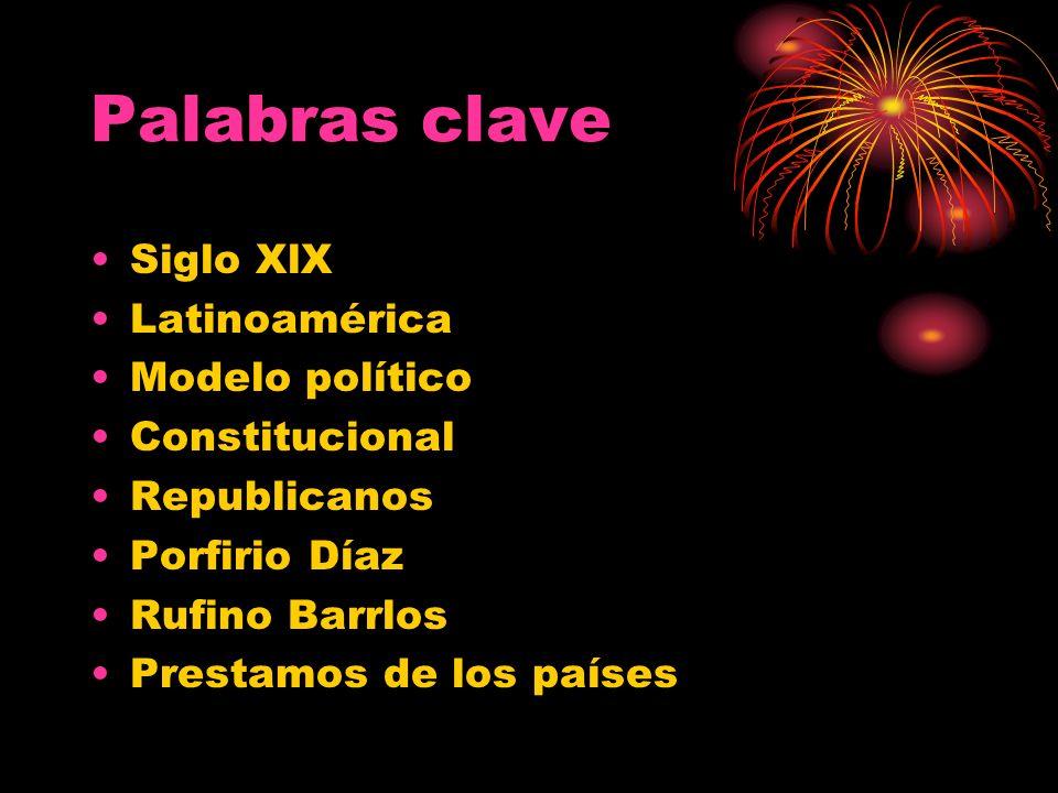 Palabras clave Siglo XlX Latinoamérica Modelo político Constitucional