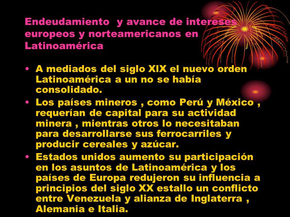 Endeudamiento y avance de intereses europeos y norteamericanos en Latinoamérica