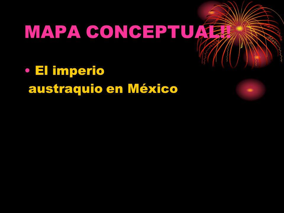 MAPA CONCEPTUAL!! El imperio austraquio en México