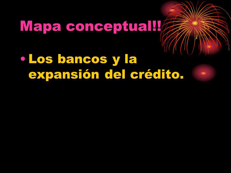Mapa conceptual!! Los bancos y la expansión del crédito.